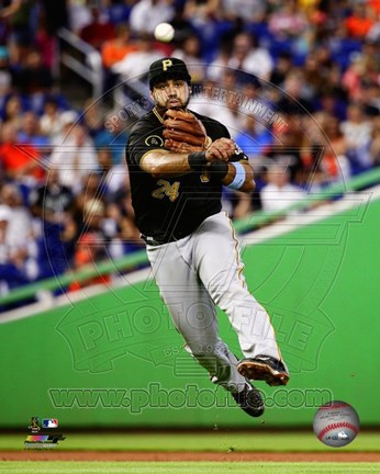 Framed Pedro Alvarez in action 2014 Print