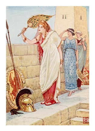 Framed Often She Would Stand Upon the Walls of Troy, Helen the Queen of Sparta Print
