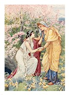 Demeter Rejoiced For Her Daughter Was By Her Side  Fine Art Print