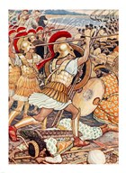 They Crashed Into the Persian Army with Tremendous Force Art