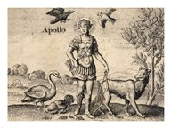The Greek God Apollo  Fine Art Print