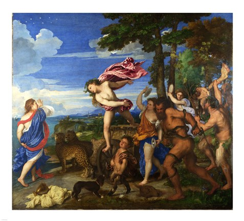 Framed Titian Bacchus and Ariadne Print