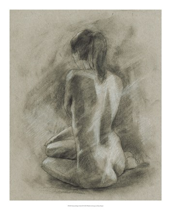 Framed Charcoal Figure Study II Print