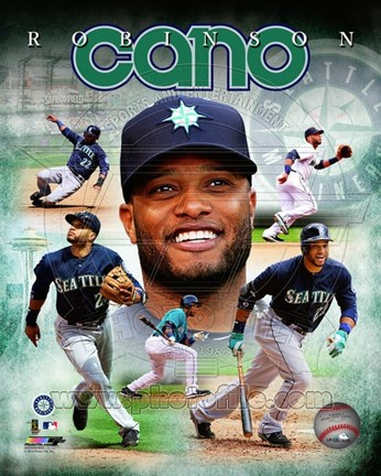 Framed Robinson Cano 2014 Portrait Plus Print