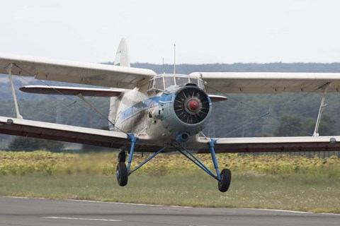 Framed Antonov An-2 taking off from an airfield in Bulgaria Print