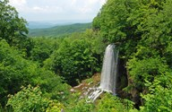 Waterfall and Allegheny Mountains  Fine Art Print