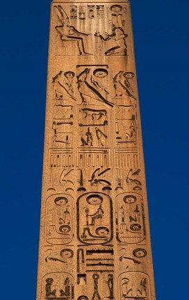 Framed Egypt, Temple of Luxor, Hieroglyphics, Obelisk of Ramesses II Print