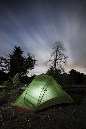 Framed Camping under the clouds and stars in Cleveland National Forest, California Print
