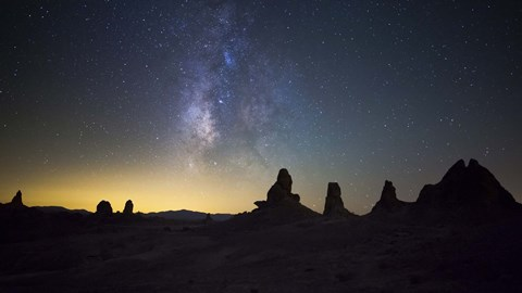 Framed Milky Way over Trona Pinnacles Trona, California Print