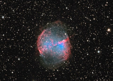 Framed M27 the Dumbbell nebula Print