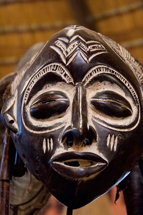 South Africa Durban Zulu Tribe Mask Fine Art Print By