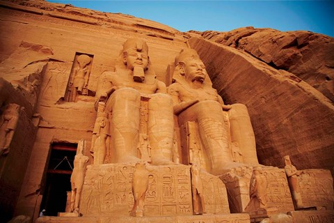 Framed Statues, The Greater Temple, Abu Simbel, Egypt Print