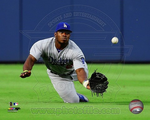 Framed Yasiel Puig 2014 Action Print
