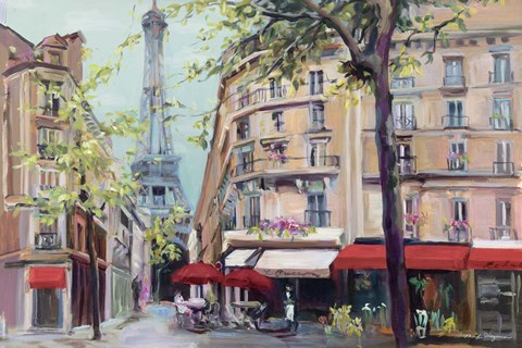 Framed Springtime in Paris Print