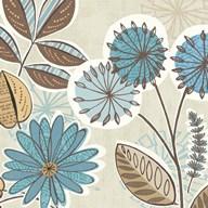 Funky Flowers V  Fine Art Print
