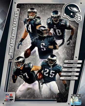 Framed Philadelphia Eagles 2014 Team Composite Print