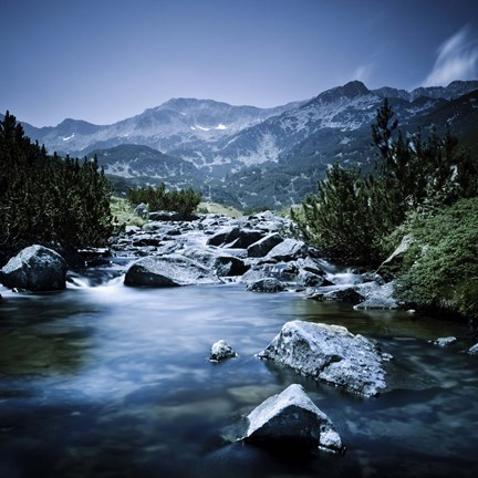 Small River Flowing Through The Mountains Of Pirin