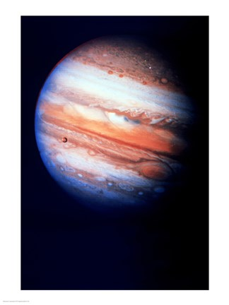 Framed Close-up of Jupiter in space Print