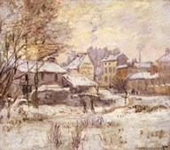 Snow Effect with Setting Sun, 1875 Art