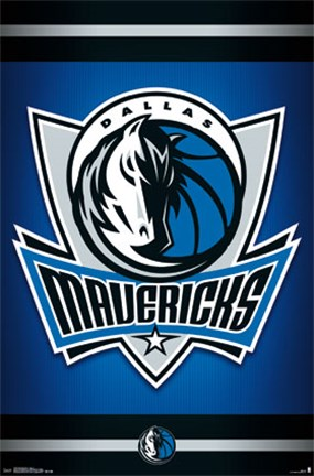 Framed Dallas Mavericks - Logo 14 Print