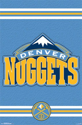 Framed Denver Nuggets - Logo 14 Print