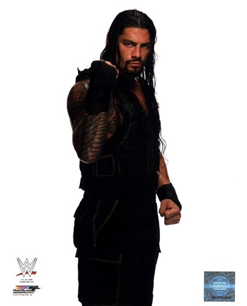 Framed Roman Reigns Wrestling Tatoos Print