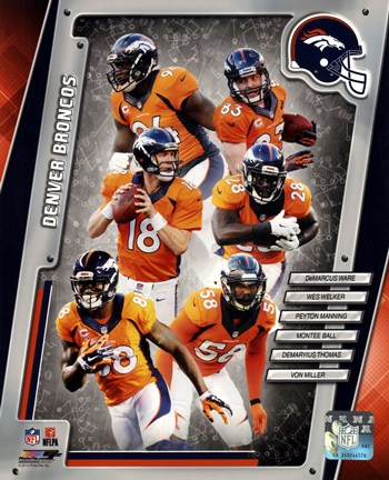 Framed Denver Broncos 2014 Team Composite Print