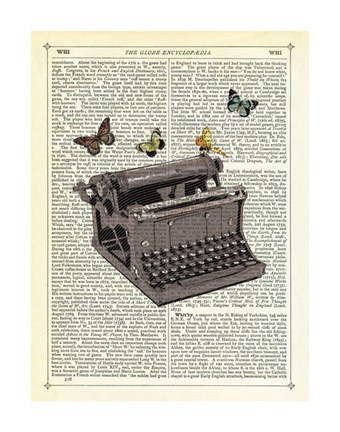 Framed Typewriter Print