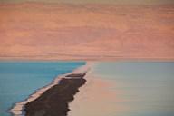 Israel, Dead Sea, Ein Bokek, Dead Sea, dusk  Fine Art Print