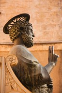 Israel, Galilee, Tiberias, St Peters Parish, Statue  Fine Art Print