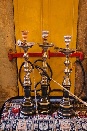 Framed Sheesha pipes, Jerusalem, Israel Print