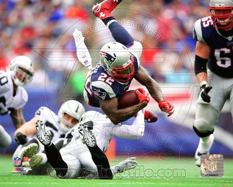 Framed Stevan Ridley in the air 2014 Print