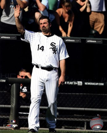 Framed Paul Konerko leaves the field for the last time- September 28, 2014 Print