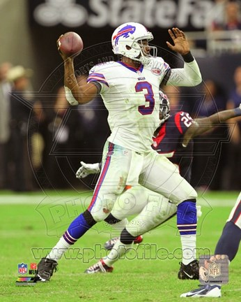 Framed E.J. Manuel throwing the ball 2014 Print