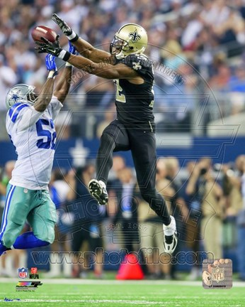 Framed Marques Colston catching the ball 2014 Print