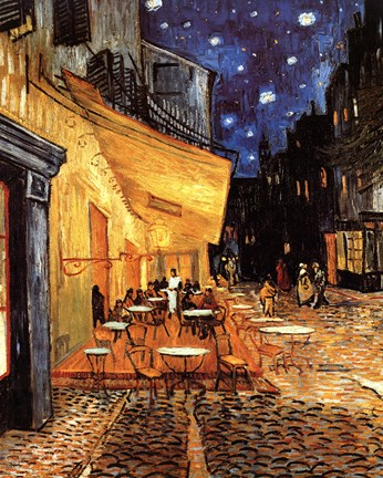The Cafe Terrace On The Place Du Forum Arles At Night C