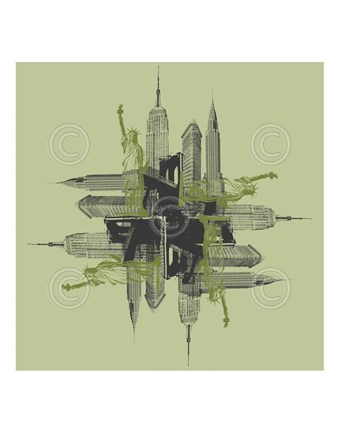Framed NYC Kaleidoscope Print