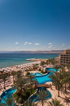 Framed Jordan, Aqaba, Red Sea and Eilat, Resort Print