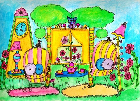Framed Outdoor Living Print