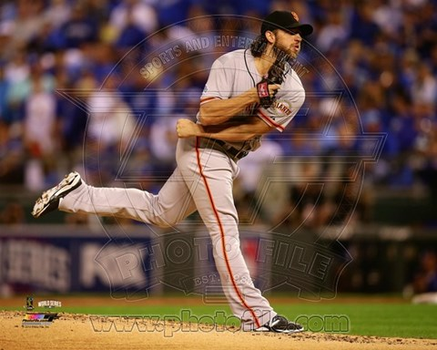 Framed Madison Bumgarner Game 1 of the 2014 World Series Action Print
