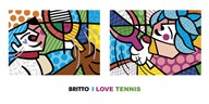 I Love Tennis  Fine Art Print