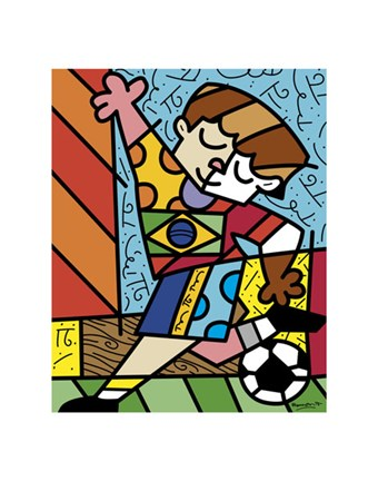 Framed I Love Soccer Print