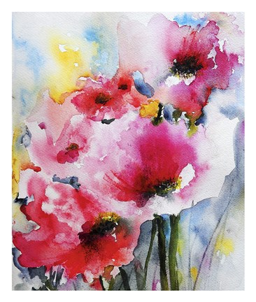 Framed Summer Poppies II Print