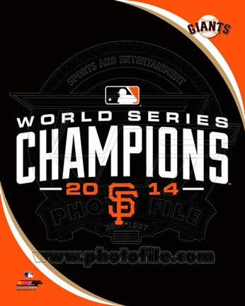 Framed San Francisco Giants 2014 World Series Champions Logo Print