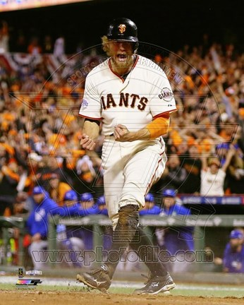 Framed Hunter Pence Game 5 of the 2014 World Series Action Print
