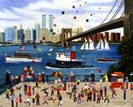 Beneath The Brooklyn Bridge  Fine Art Print
