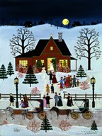 The Family Christmas Party  Fine Art Print