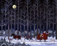 Wilber Impersonating Santa Again  Fine Art Print