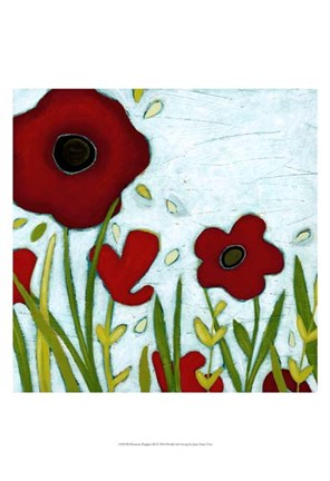 Framed Precious Poppies III Print