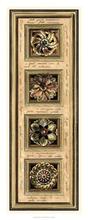 Framed Rosette Panel II Print